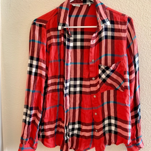 ebcf4e005ce Cotton On Red and Blue Checkered Flannel Shirt
